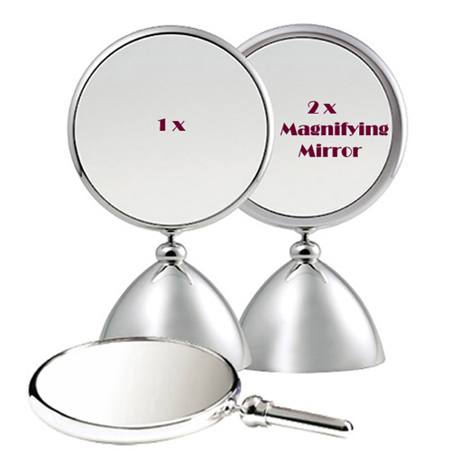 Henings Shiny Beauty Round Shape Makeup Mirror(M) with 2x magnifier 헤닝스 뷰티 원형 확대거울 겸용 탁상거울(중)