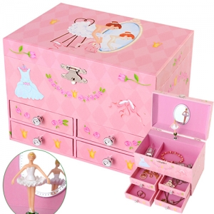 Childhood memories musical ballerina trinket jewelry box 거울속 발레리나 오르골보석함