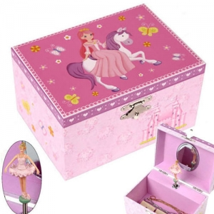 백마탄공주 뮤지컬보석함(소) Princess riding a horse musical jewelry box(s)