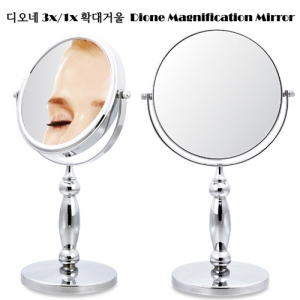 Dione Double Sided Magnification Mirror(L/1x/3x)  디오네 3x/1x 확대거울(대)