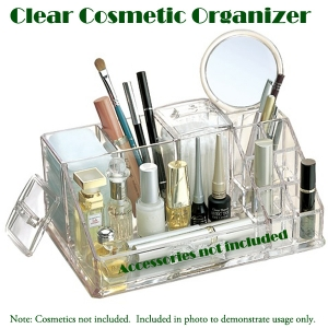 Transparent Cosmetic,Makeup, and Beauty Tools Organizer(M) 투명 화장품향수 보관함(중)