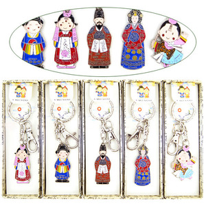 Korean traditional character metal keychains  한국 전통 캐릭터 메탈 열쇠고리