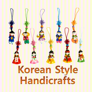 Korean Traditional Figure Phone Strings  한국 민속 칼라믹스 핸드폰줄