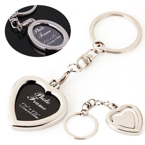 Simple heart oval shape keychain with photo frame  심플렛 하트 오발 사진액자 열쇠고리